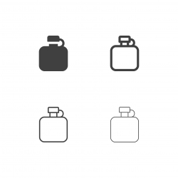 Camping Flask Icons - Multi Series