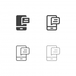 Mobile Message Icons - Multi Series