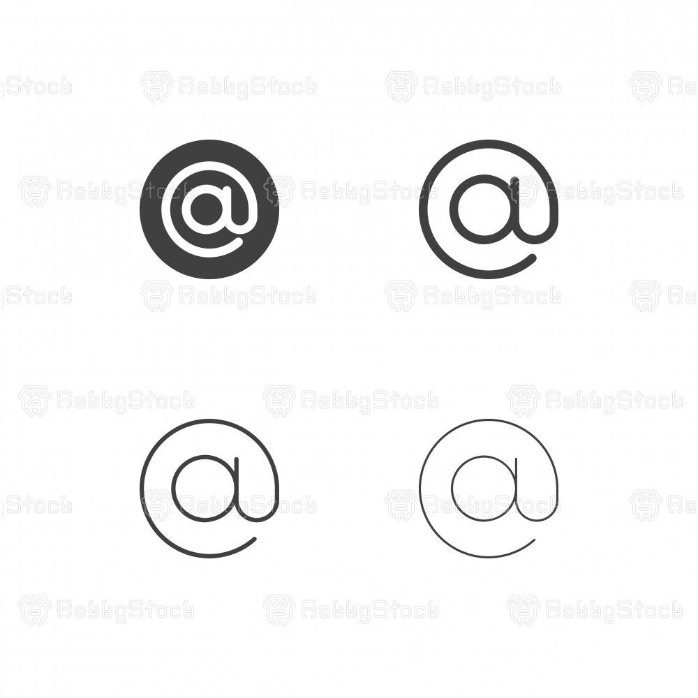 Commercial At Sign Icons - Multi Series