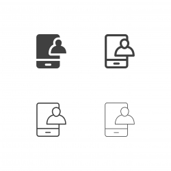 Video Call Icons - Multi Series