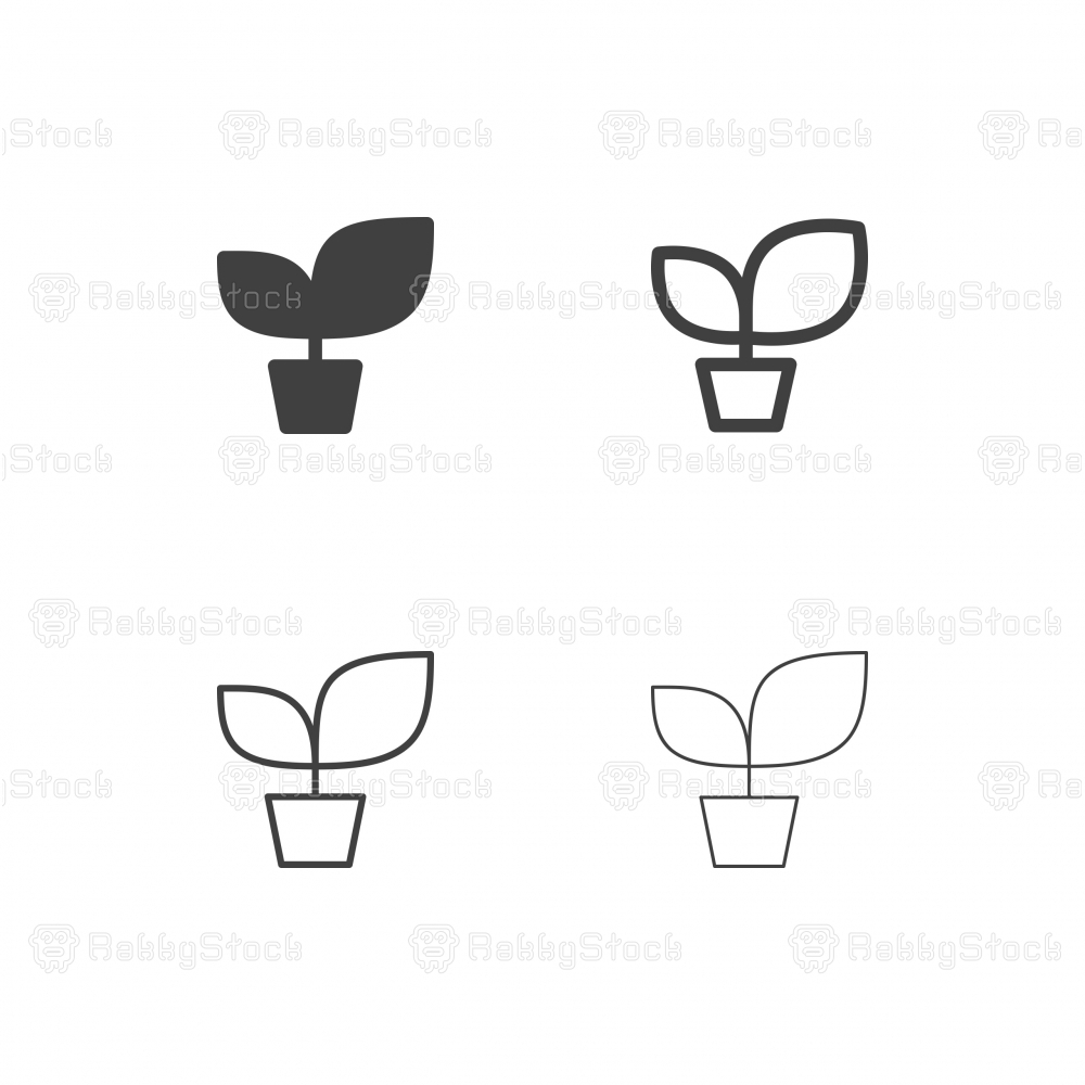 Potted Plant Icons - Multi Series