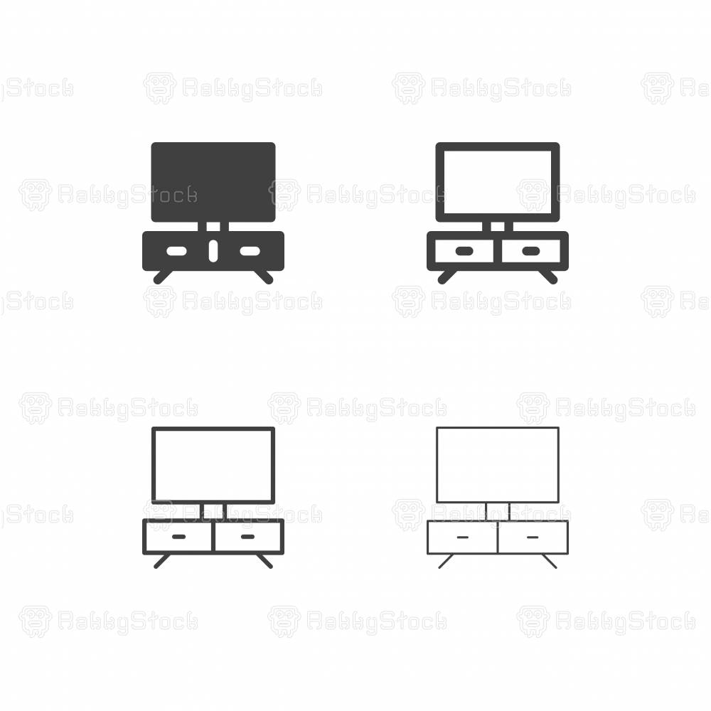 Television Set Icons - Multi Series