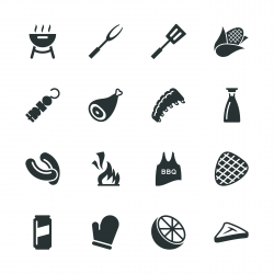 Barbecue Silhouette Icons