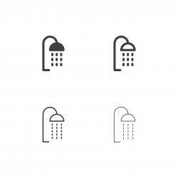 Shower Head Icons - Multi Series