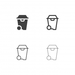 Garbage Bin Icons - Multi Series