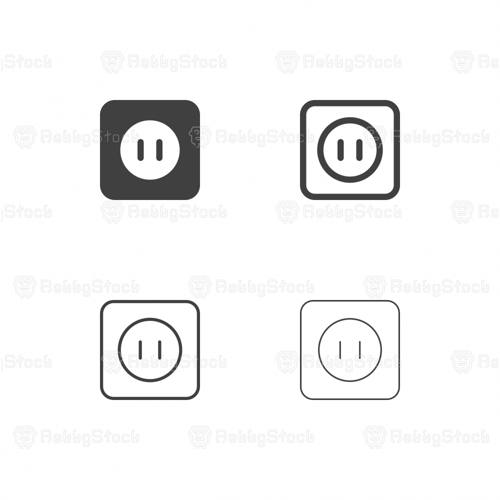 Electric Socket Icons - Multi Series