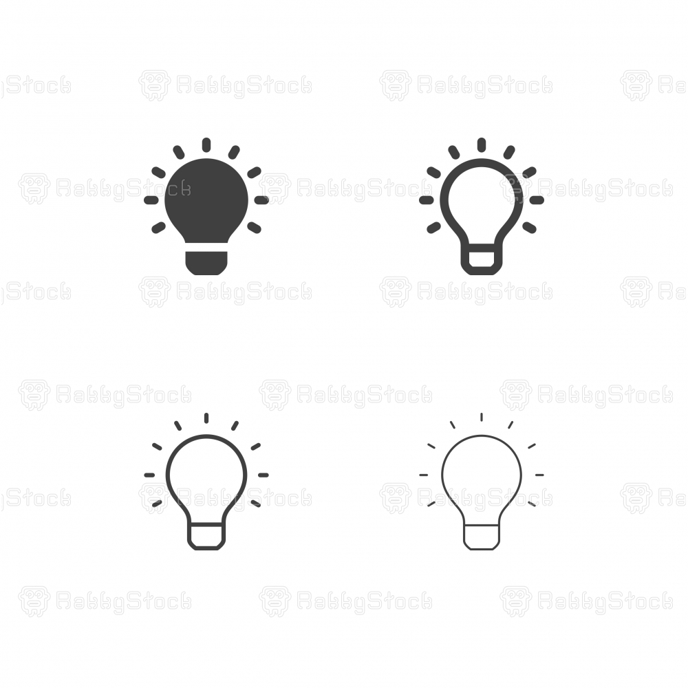 Light Bulb Icons - Multi Series