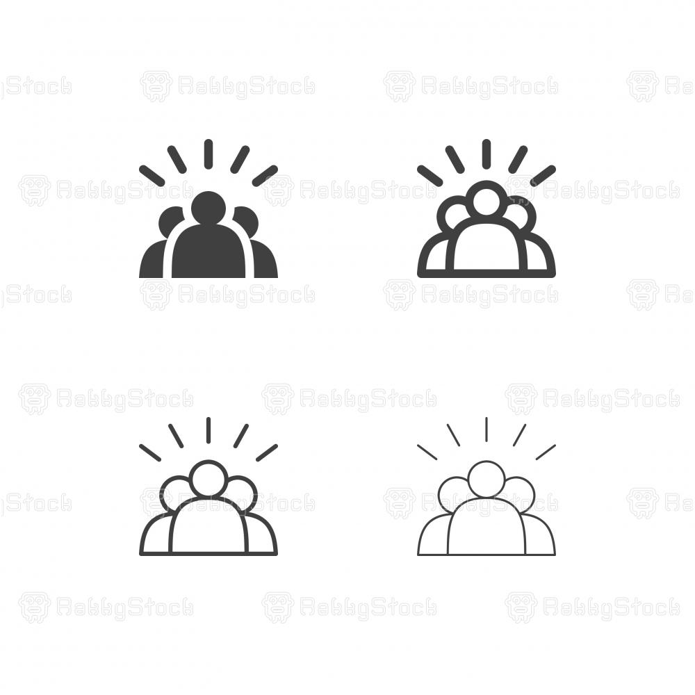 Team Work Icons - Multi Series