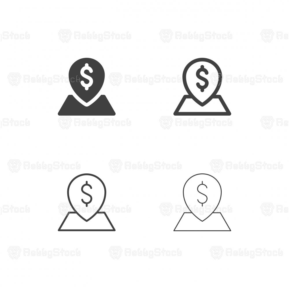 Money Location Icons - Multi Series