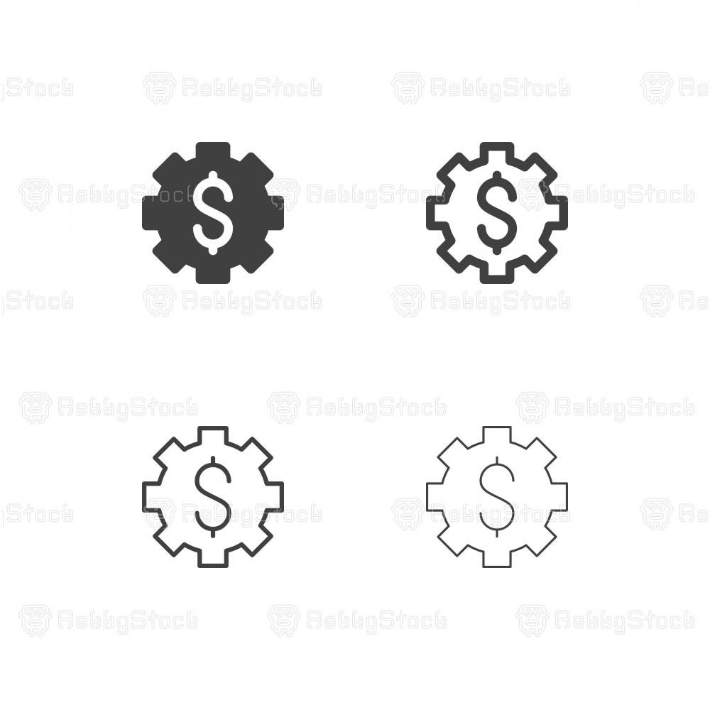 Money Gear Icons - Multi Series