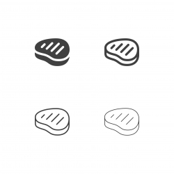 Beef Steak Icons - Multi Series