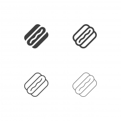 Hot Dog Icons - Multi Series