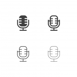 Retro Microphone Icons - Multi Series