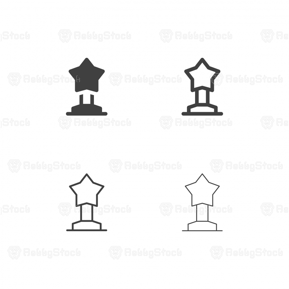 Star Trophy Icons - Multi Series