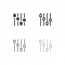 Electric Sound Effect Icons - Multi Series