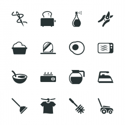 Housekeeping Silhouette Icons