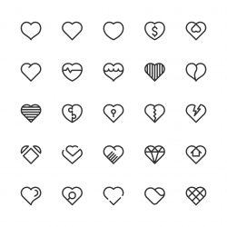 Heart Icons - Line Series