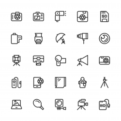 Photography Icons - Line Series