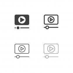 Media Player Icons - Multi Series