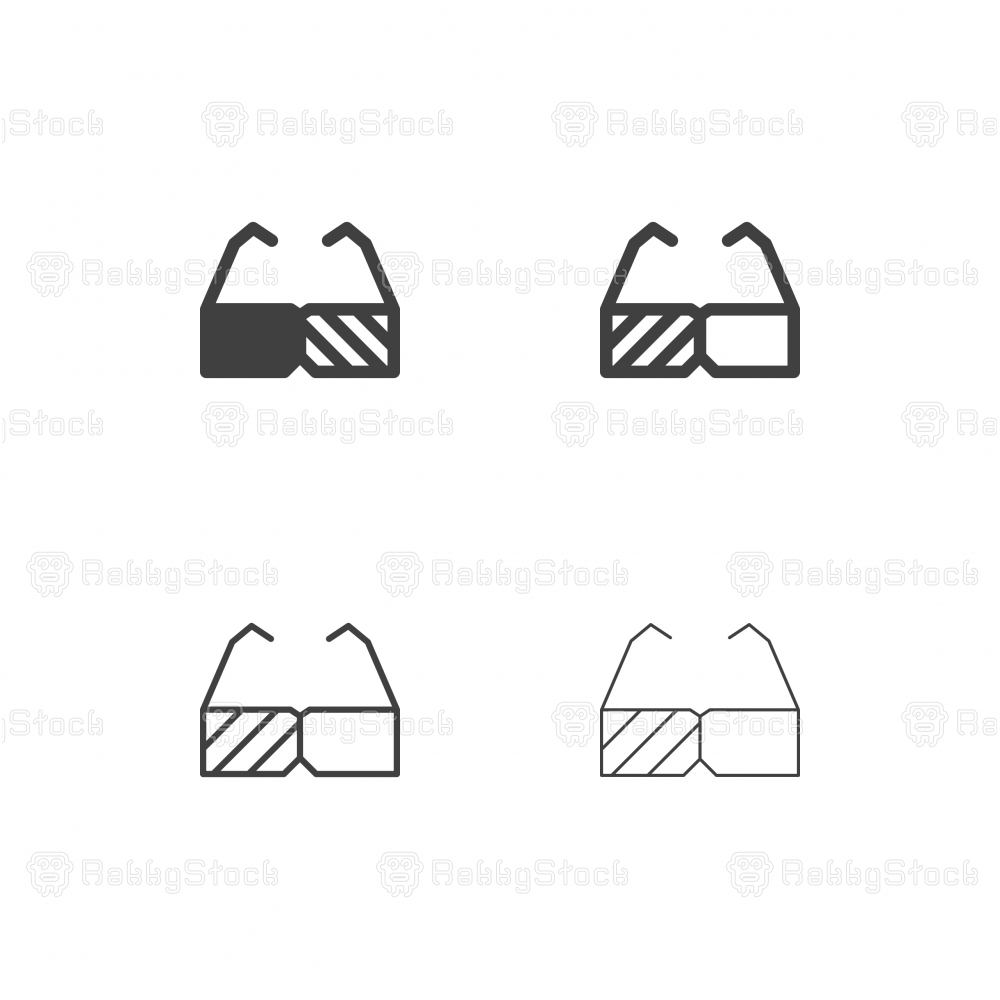 3D Glasses Icons - Multi Series