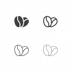 Coffee Bean Icons - Multi Series