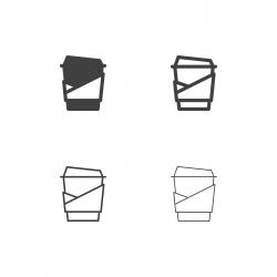 Take Away Coffee Icons - Multi Series