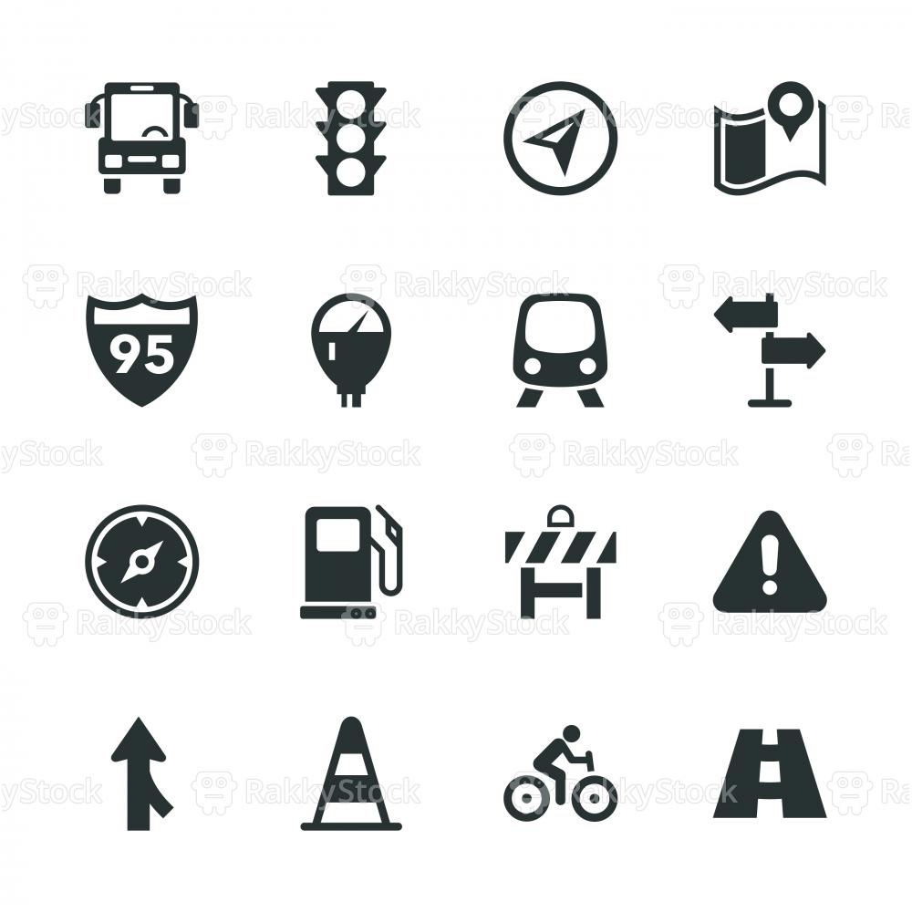 Traffic Silhouette Icons