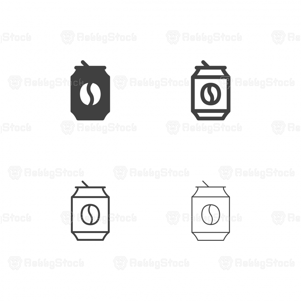 Canned Coffee Icons - Multi Series