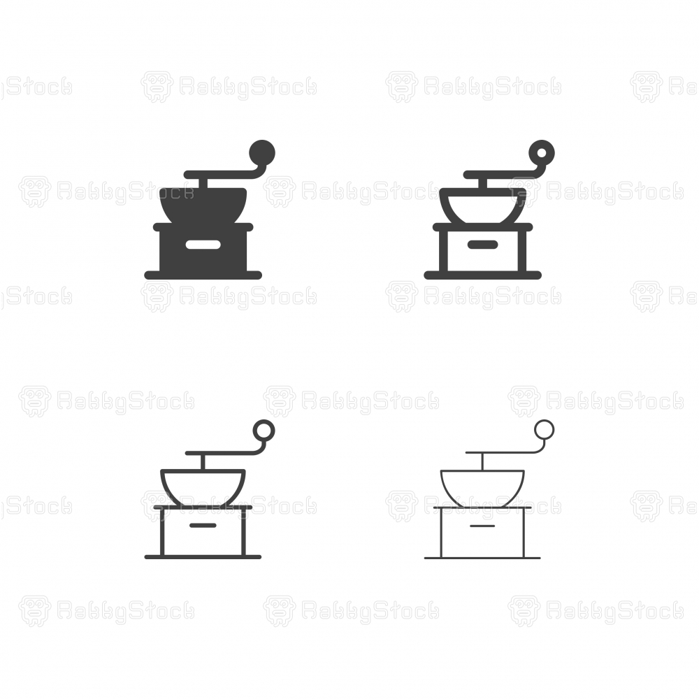 Coffee Grinder Icons - Multi Series
