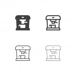 Espresso Coffee Machine Icons - Multi Series