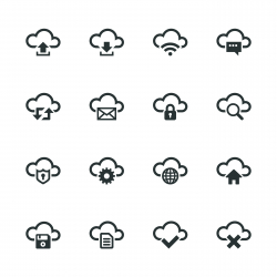 Cloud Computing Silhouette Icons