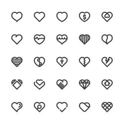 Heart Icons - Bold Line Series