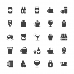 Drink Icons Set 1 - Gray Series