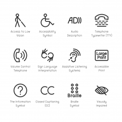 Disabled Accessibility Icons - Line Series