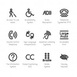 Disabled Accessibility Icons - Bold Line Series