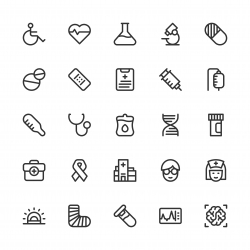Healthcare and Medical Icons - Line Series