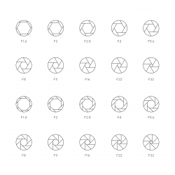 Size of Aperture Icons - Ultra Thin Line Series