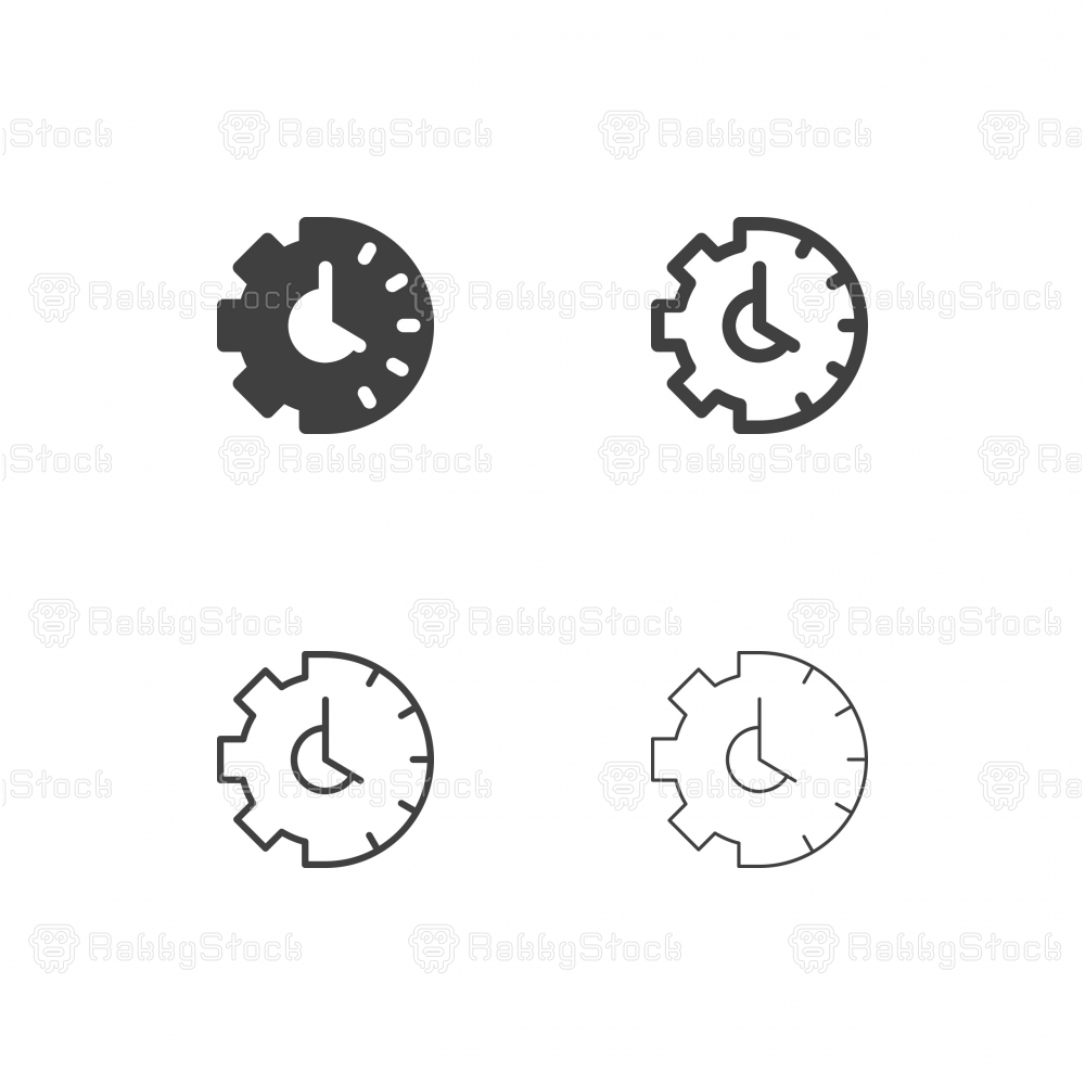 Gearing Time Icons - Multi Series