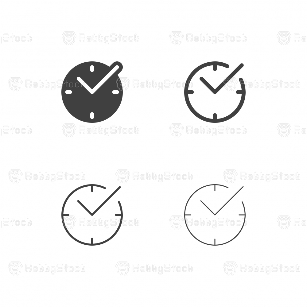 Checkmark Time Icons - Multi Series