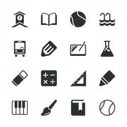 School Silhouette Icons | Set 2