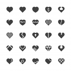 Heart Icons - Gray Series