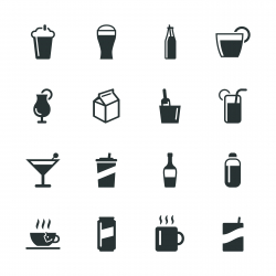 Beverage Silhouette Icons