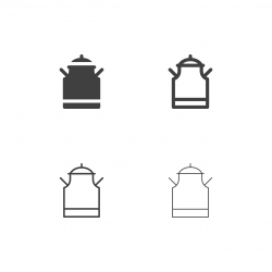 Milk Tank Icons - Multi Series