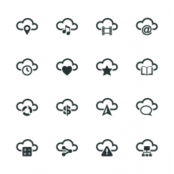Cloud Computing Silhouette Icons | Set 2