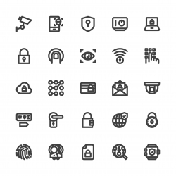 Security System Icons - Bold Line Series