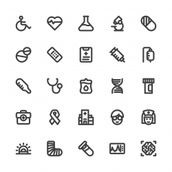 Healthcare and Medical Icons - Bold Line Series