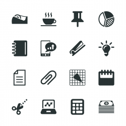 Office and Business Silhouette Icons