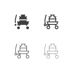 Milk Tank on Wagon Icons - Multi Series