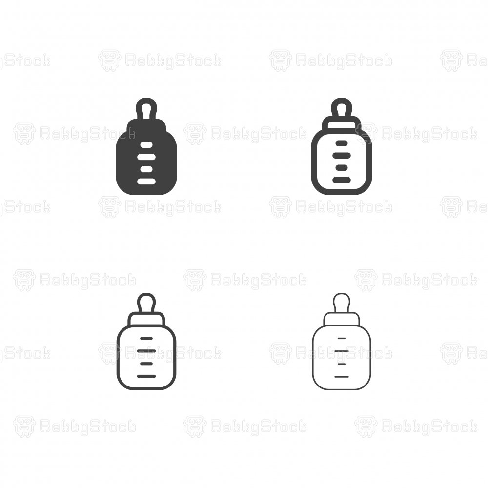 Baby Milk Bottle Icons - Multi Series