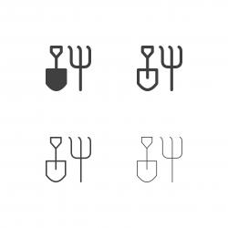 Gardening Hand Tool Icons - Multi Series